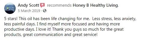 Honey B Healthy Living CBD Customer Review 5