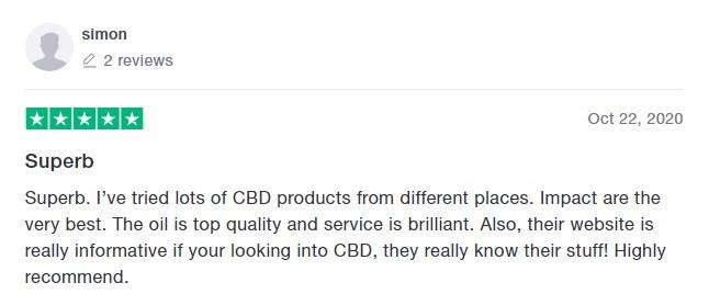 Impact CBD Customer Review 4