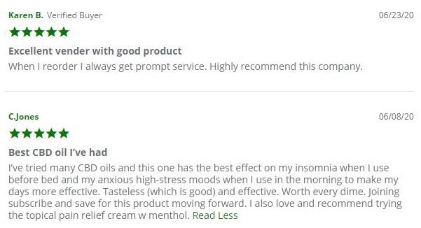 Intrinsic Hemp CBD Isolate Oil Customer Reviews