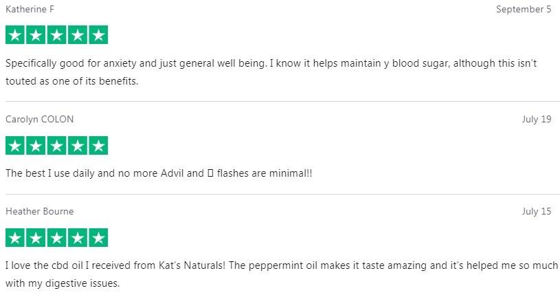 Kats Naturals CBD Oil Customer Reviews