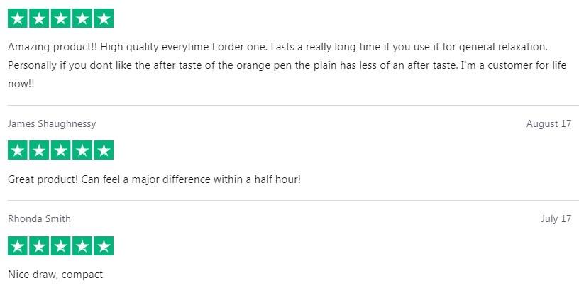 Kats Naturals CBD Vape Customer Reviews
