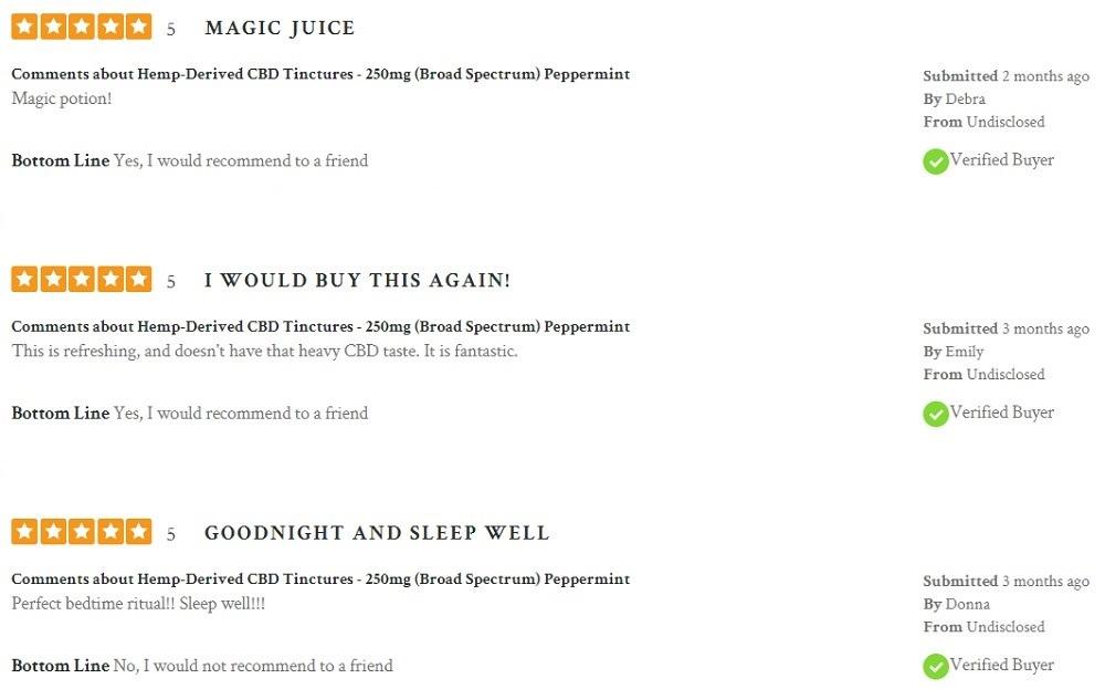 Lord Jones Broad Spectrum CBD Oil Customer Reviews
