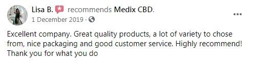 Medix CBD Customer Review 4