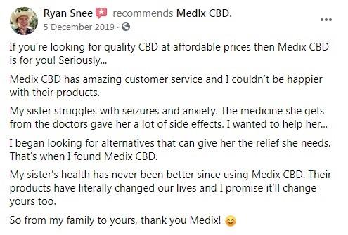 Medix CBD Customer Review 5