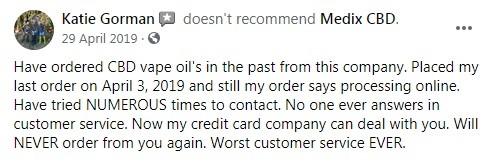 Medix CBD Customer Review