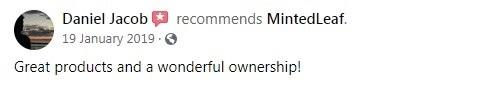 MintedLeaf CBD Customer Review 4