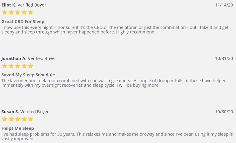 NanoCraft CBD Night Time CBD Oil for Sleep Customer Reviews