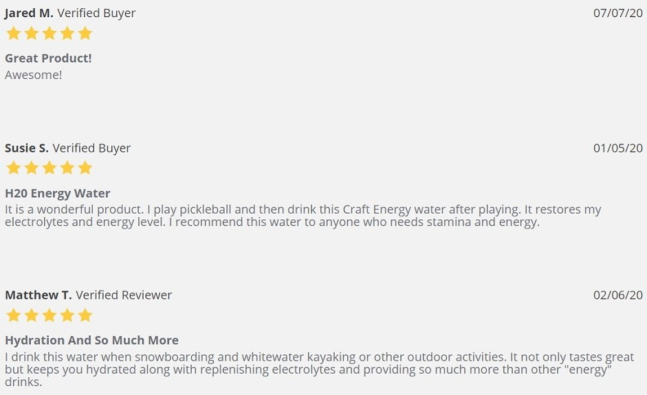 NanoCraft CBD Water Customer Reviews
