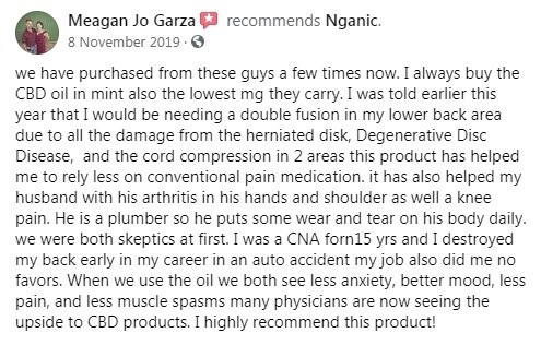 Nganic CBD Customer Review