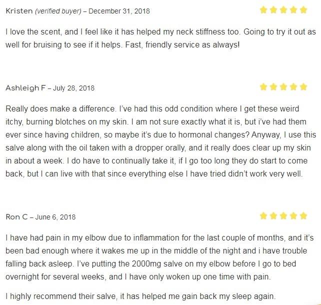Nganic CBD Topicals Customer Reviews