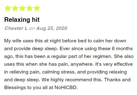 NoHiCBD CBD Isolate Drops Customer Reviews