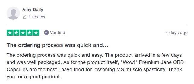 Premium Jane CBD Customer Review 5