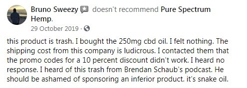 Pure Spectrum CBD Customer Review 3