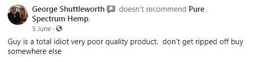 Pure Spectrum CBD Customer Review
