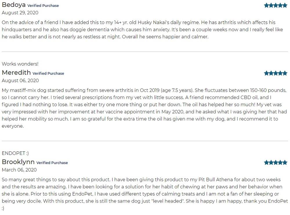 Pure Spectrum CBD For Pets Customer Reviews