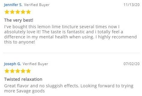 Savage CBD Oil Customer Reviews