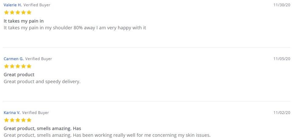 Savage CBD Topicals Customer Reviews