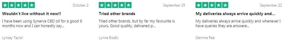 Synerva CBD Peppermint CBD Oil Customer Reviews