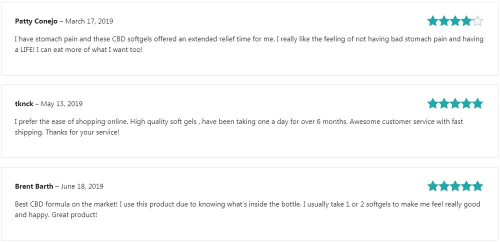 Terra Vida CBD Capsules Customer Reviews