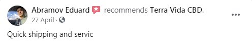 Terra Vida CBD Customer Review