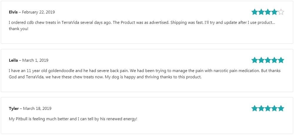 Terra Vida CBD For Pets Customer Reviews