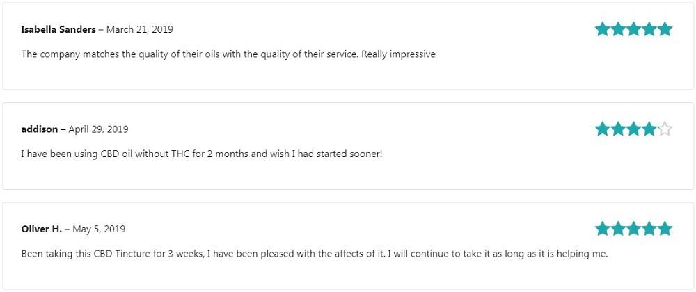 Terra Vida CBD Full Spectrum CBD Oil Customer Reviews