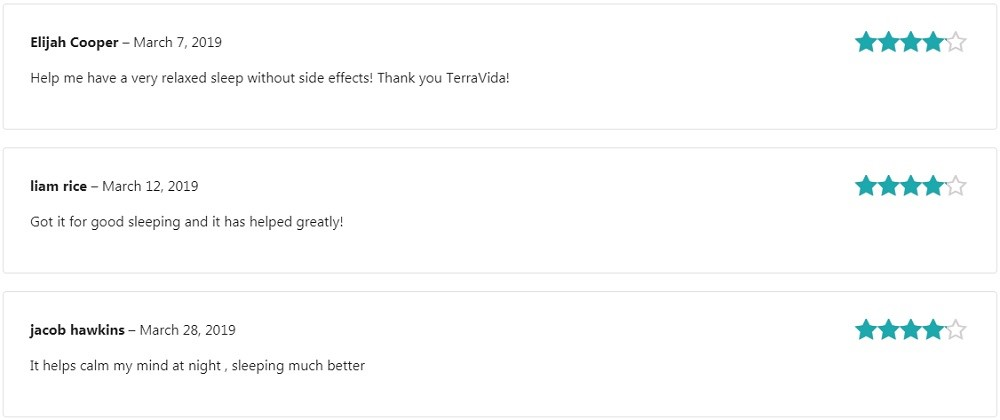 Terra Vida CBD Oral Sprays Customer Reviews