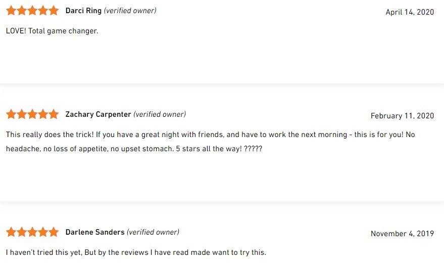 ThoughtCloud CBD Shots Customer Reviews