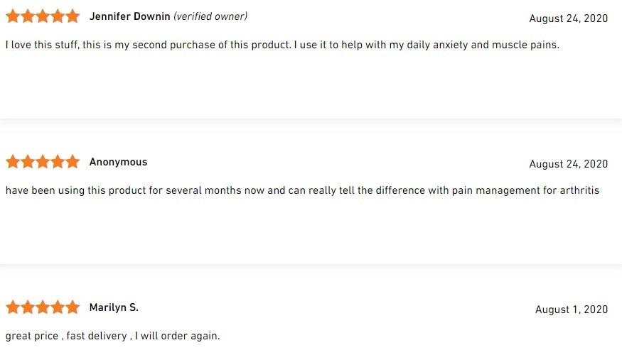 ThoughtCloud CBD Signature Series CBD Oil Customer Reviews