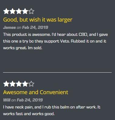Warrior's Edge CBD Recover Cooling Balm Customer Reviews