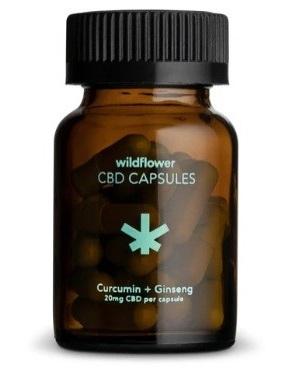 Wildflower Curcumin and Ginseng CBD Capsules