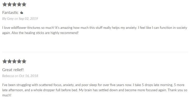 Wildflower Wellness CBD Tincture Customer Reviews