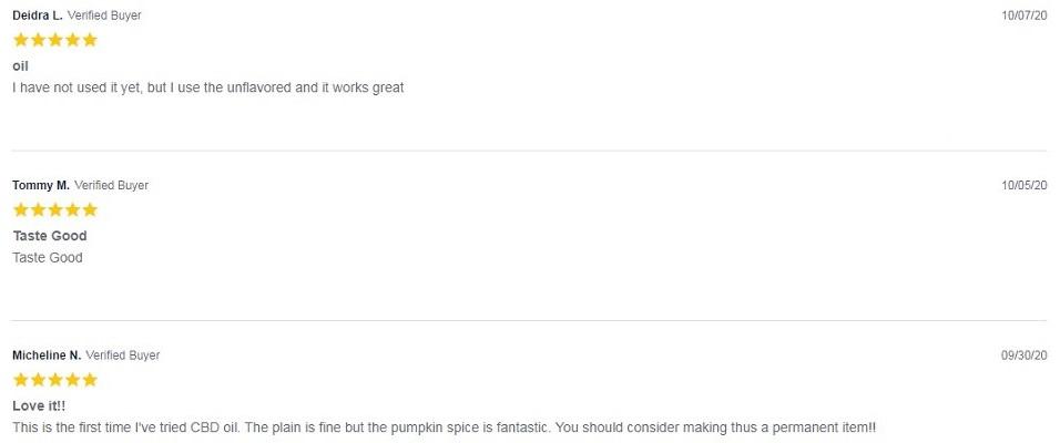 CBD Living Spice Latte CBD Tincture Customer Reviews