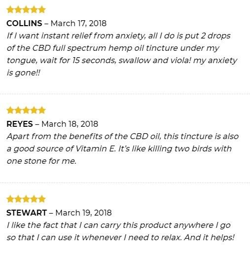 Empe USA CBD Full Spectrum CBD Oil Customer Reviews