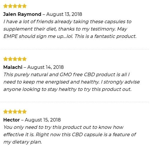 Empe USA CBD Liquid CBD Capsules Customer Reviews