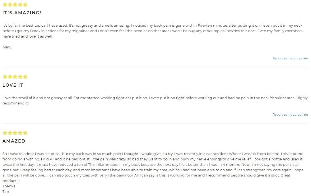 EndoCoast CBD Topicals Customer Reviews