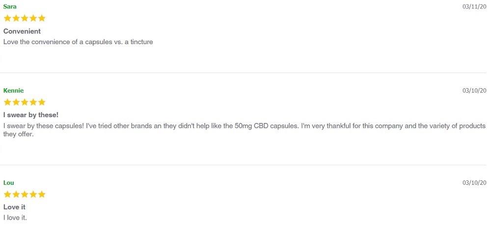 Envy CBD Capsules Customer Reviews