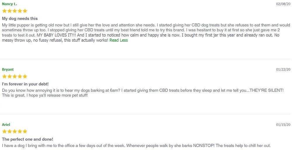 Envy CBD For Pets Customer Reviews