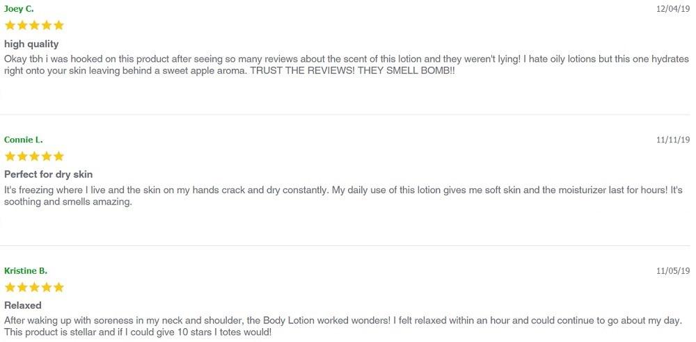 Envy CBD Topicals Customer Reviews
