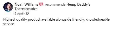Hemp Daddys Therapeutics CBD Customer Review