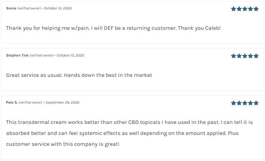 Hemp Daddys Therapeutics CBD Topicals Customer Reviews