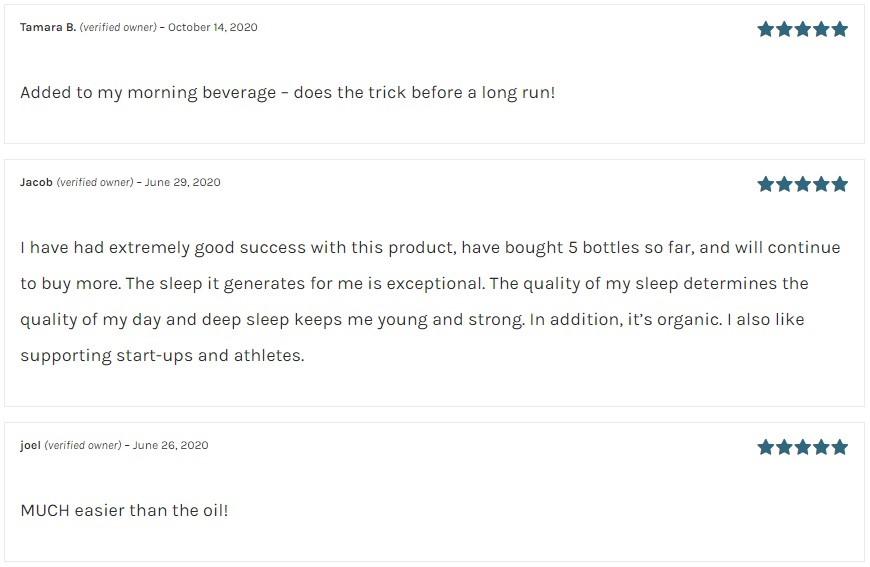 Hemp Daddys Therapeutics CBD Water Soluble Customer Reviews