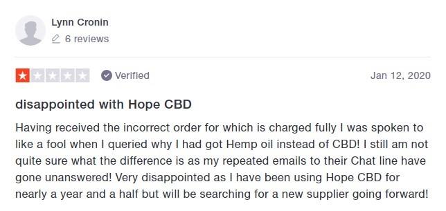 Hope CBD Customer Review 2