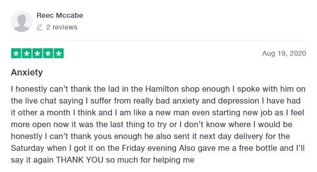 Hope CBD Customer Review 5