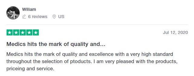 Medics Inc CBD Customer Review 5