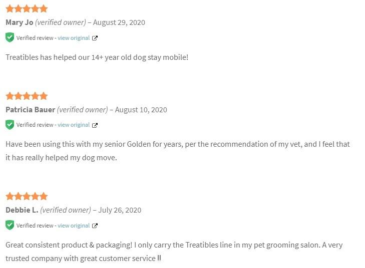Treatibles CBD Full Spectrum Hemp Oil for Dogs and Horses Customer Reviews