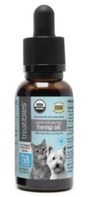 Treatibles CBD Organic Full Spectrum Hemp Oil for Dogs and Cats
