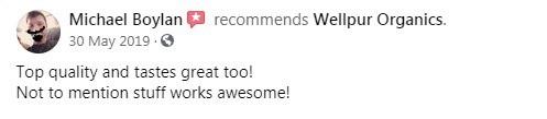 WellPUR Organics CBD Customer Review