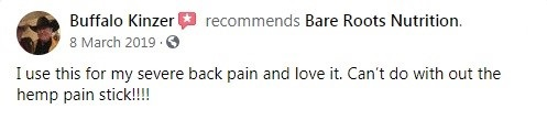 Bare Roots Nutrition CBD Customer Review 3