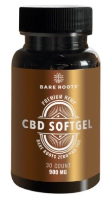 Bare Roots Nutrition CBD THC Free Isolate Oil Softgels
